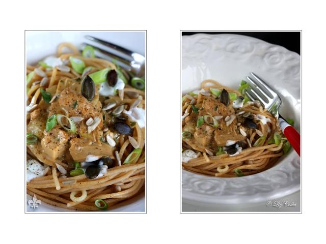 Vollkornspaghetti mit Austernpilzrahm III © Liz Collet