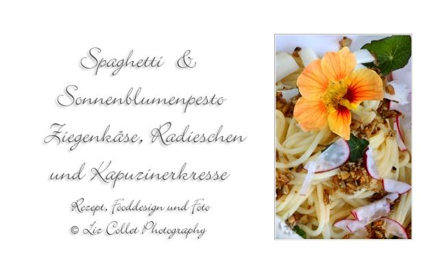 Spaghetti mit Sonnenblumenpesto  © Liz Collet