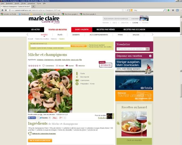 Screenshot de  Marie Claire Cuisine et Vins